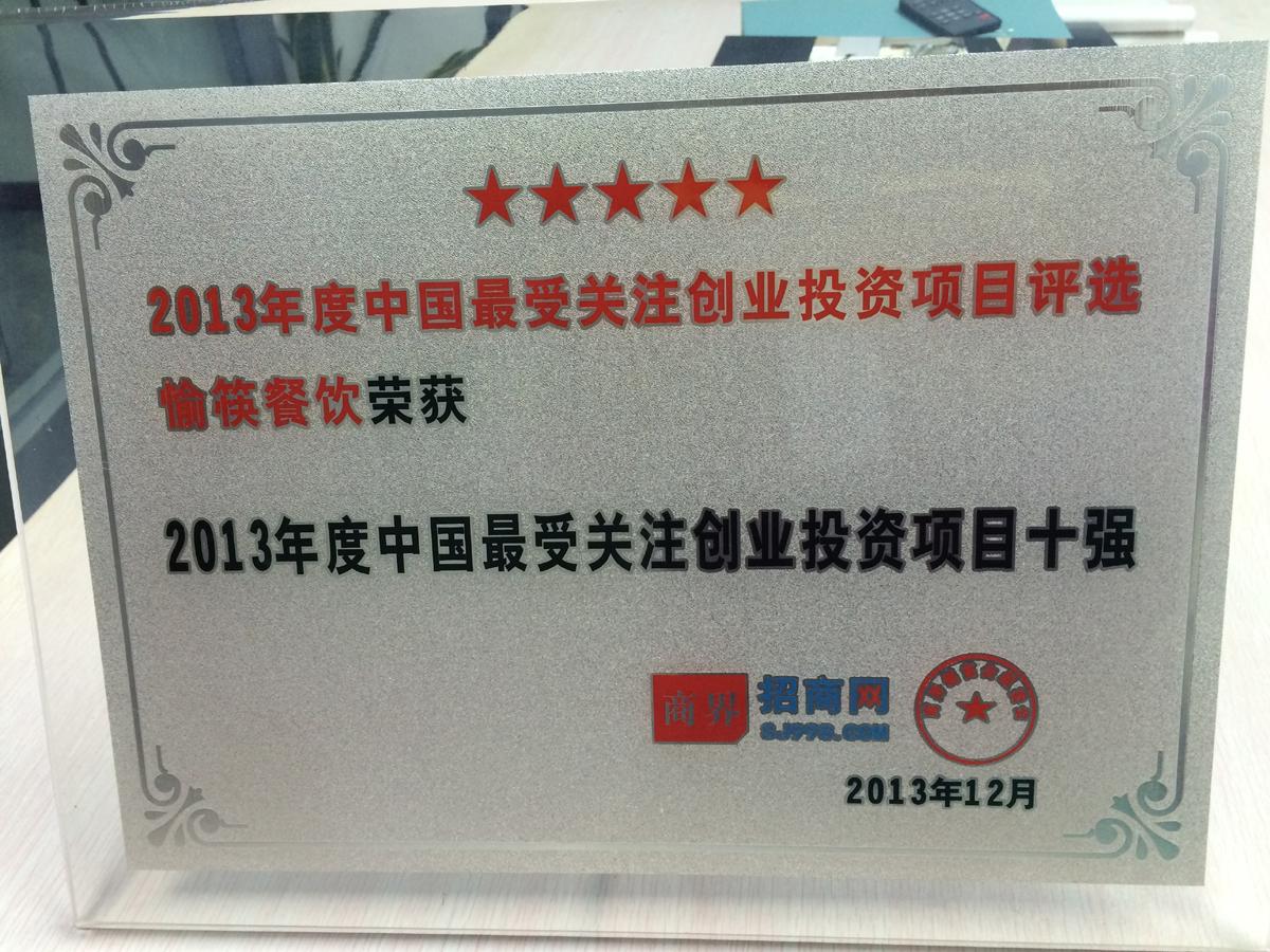 2013年度中国受关注创业投资项目十强
